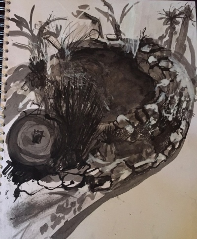 First drawing using ink