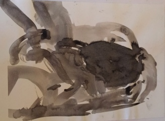 3rd drawing Using Ink and water to mark out tonal contrasts