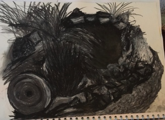 2nd drawing using Charcoal