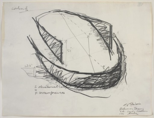 Fig 12. Untitled (preliminary drawing for L.A. county museum) 1971