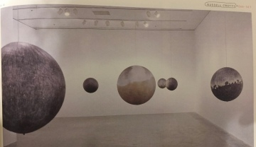 """Fig 4. View of exhibition """"Globe Drawings"""" Miami Art Museum (2002)"""